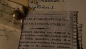 []...As Anarchist Battle Police on London Streets